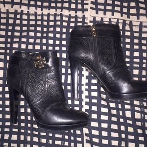 Leather Tory Burch Ankle boots.